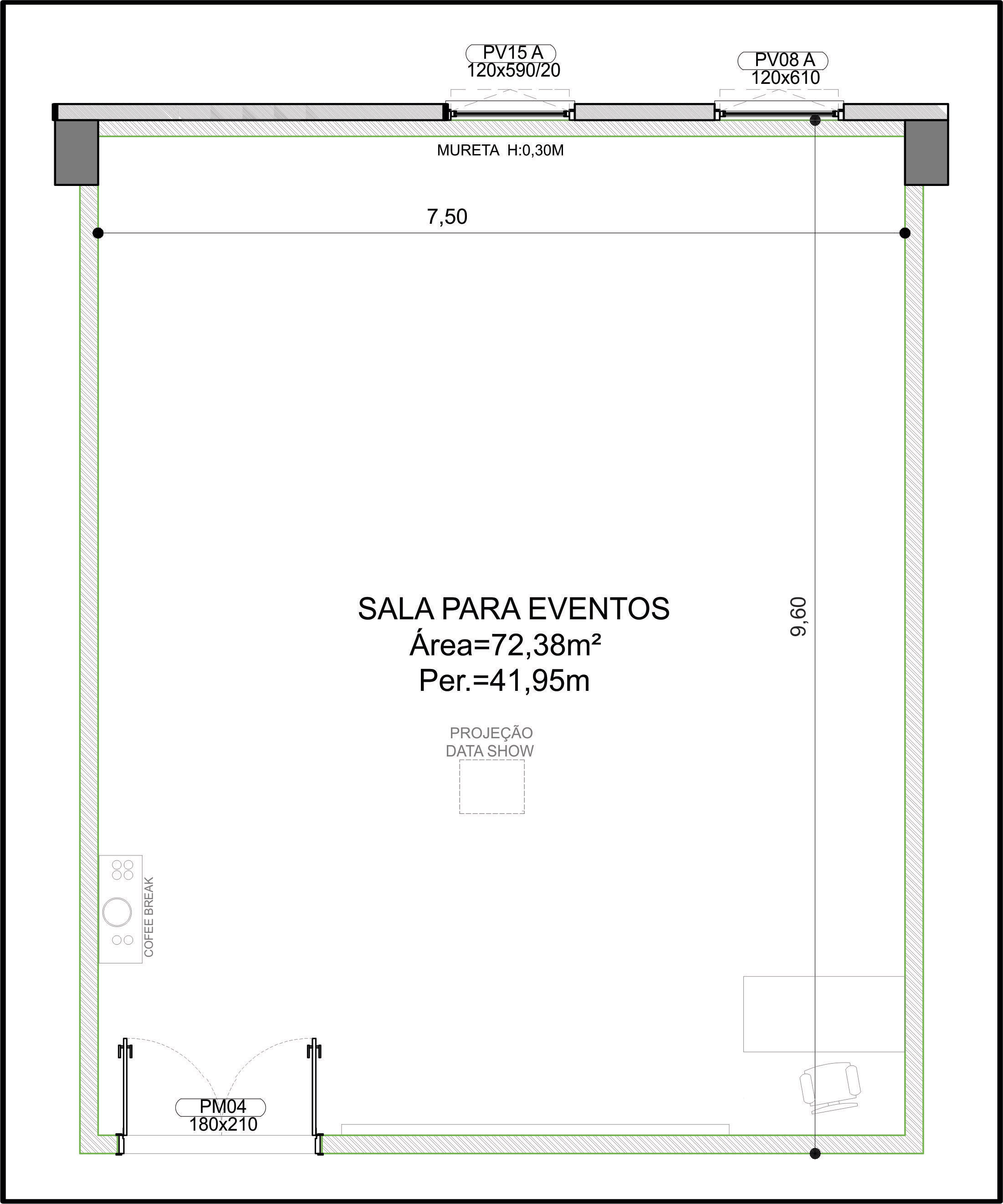 Planta Sala Pérola